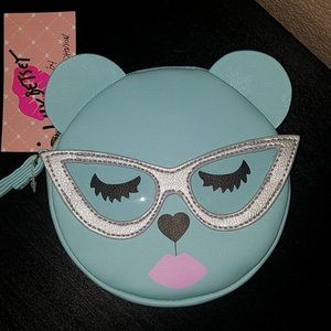 Betsey Johnson Kitty w/Glasses Coin Purse